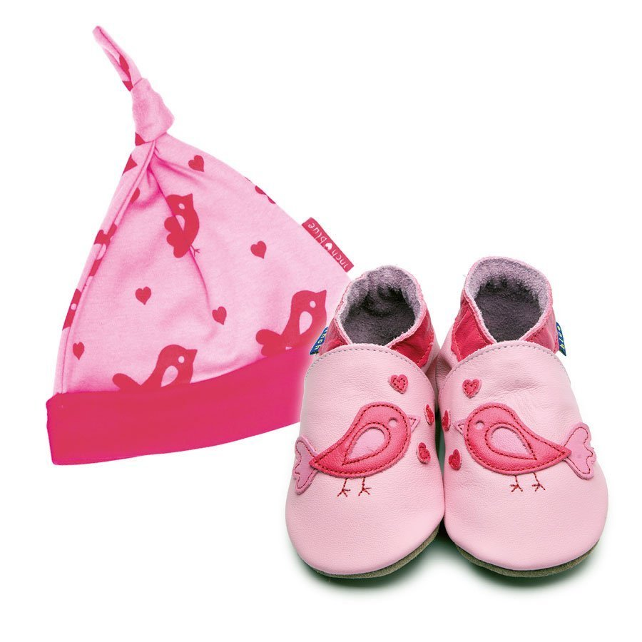 Print Bird Hat & Shoe Gift Set