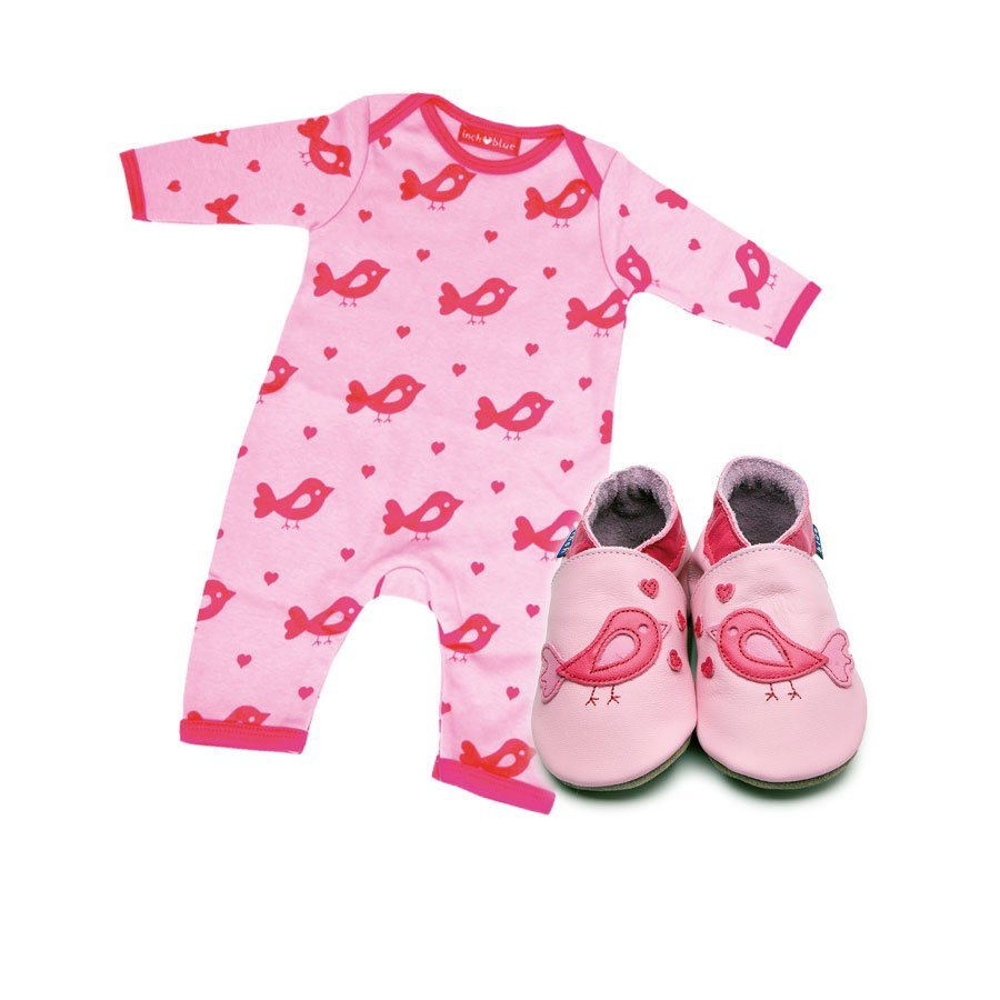 Print Bird Babygro & Shoe Gift Set