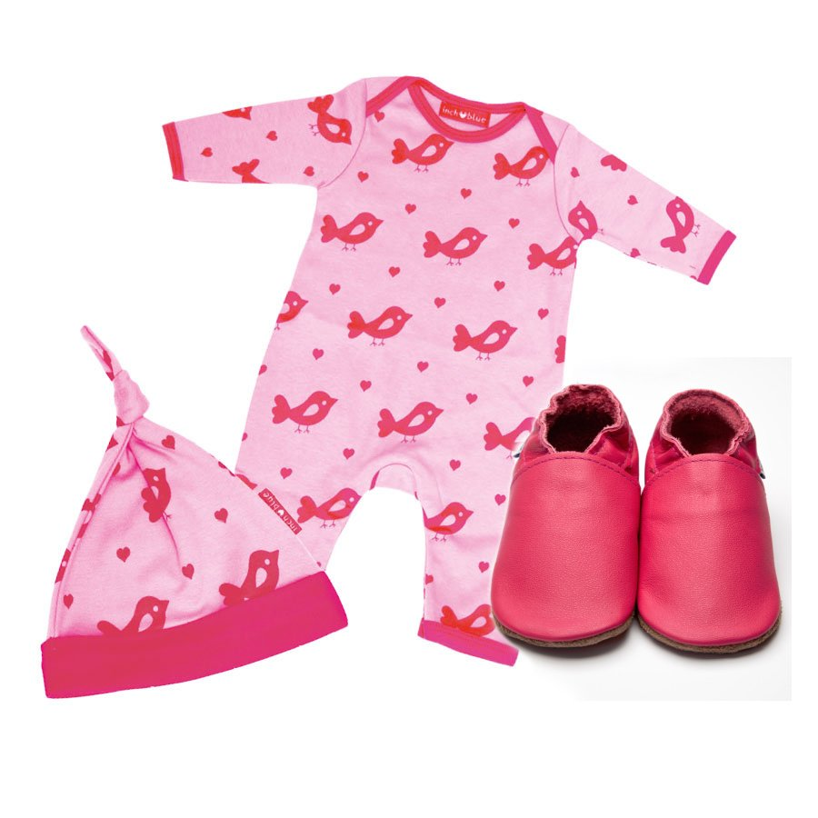 Bird d'amour Babygro, Hat & Shoe Set