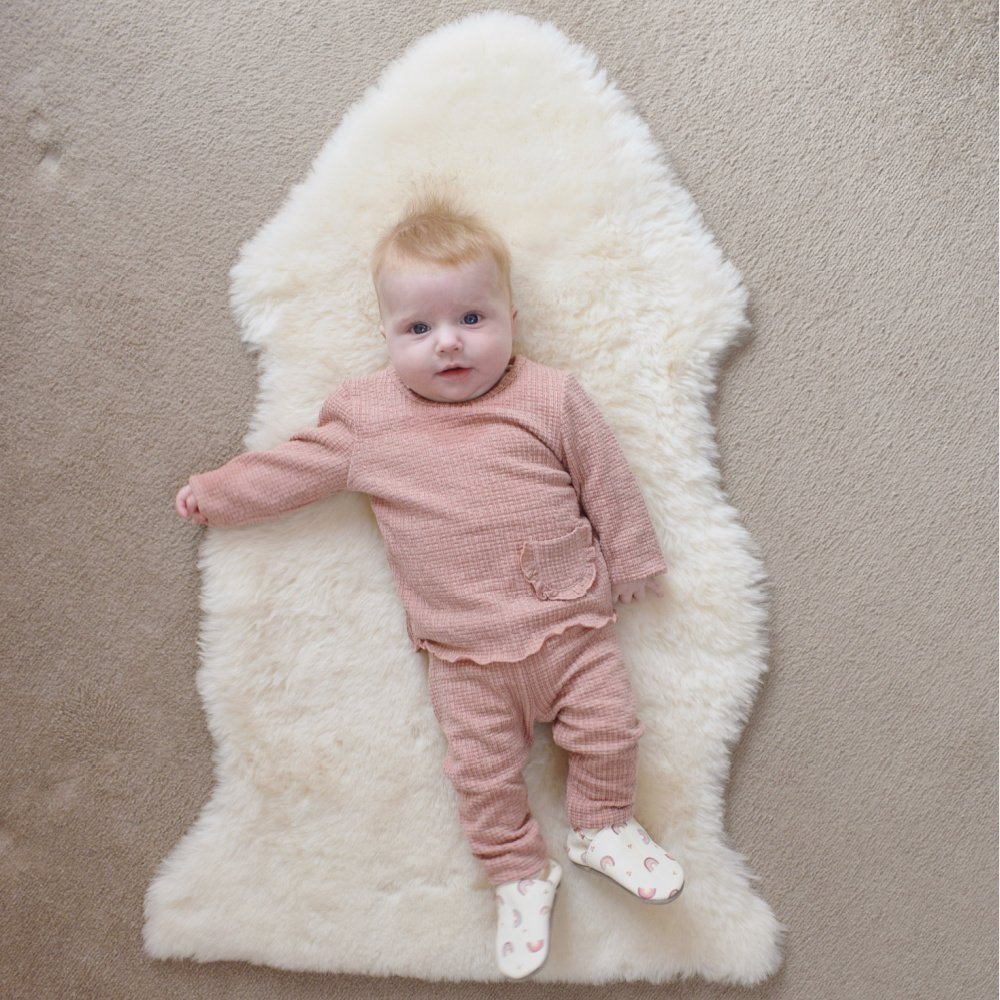 Sheepskin Nap & Play Baby Rug